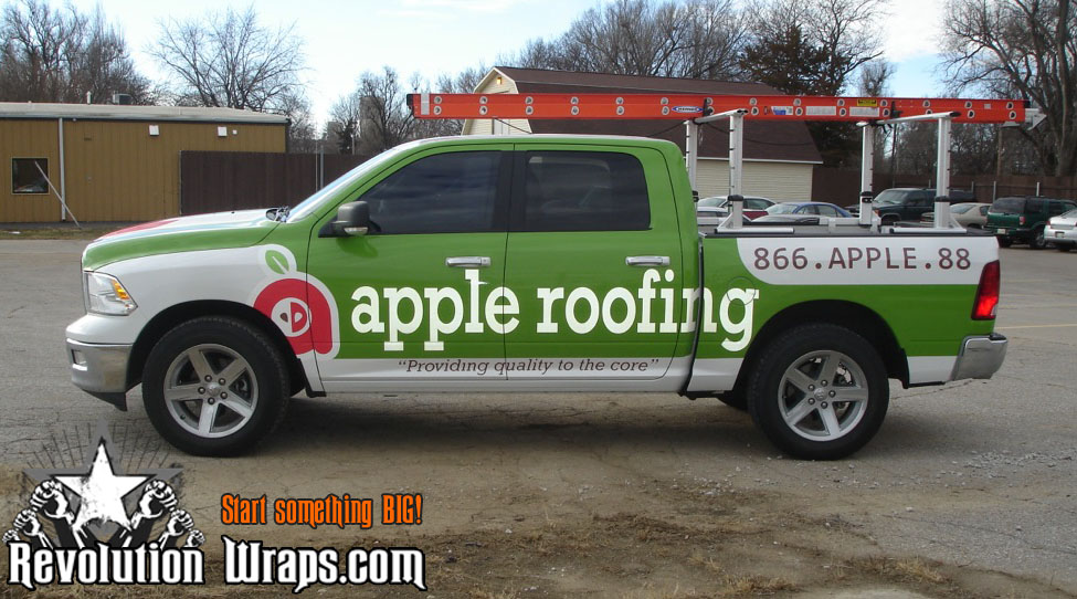 Roofing Vehicle Wrap : Truck wraps archives revolution