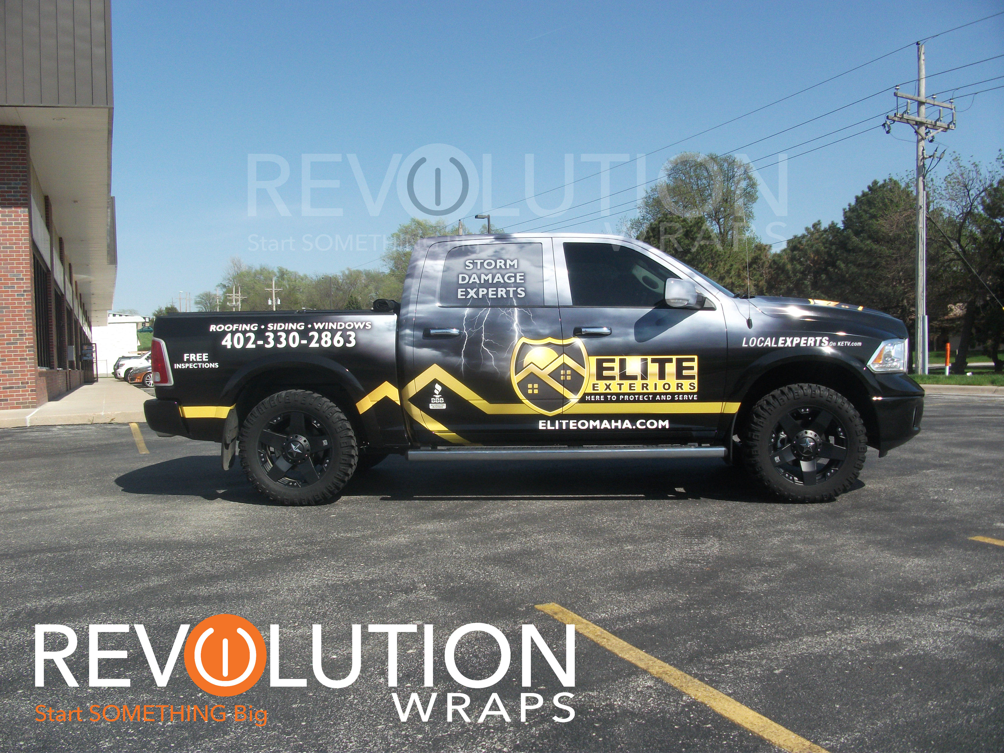 Roofing Vehicle Wrap : Elite exteriors gets all wrapped up revolution wraps