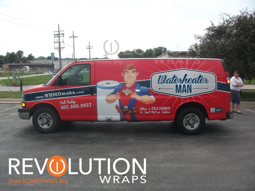 Water Heater Man Vinyl Wrap Omaha Revolution Wraps