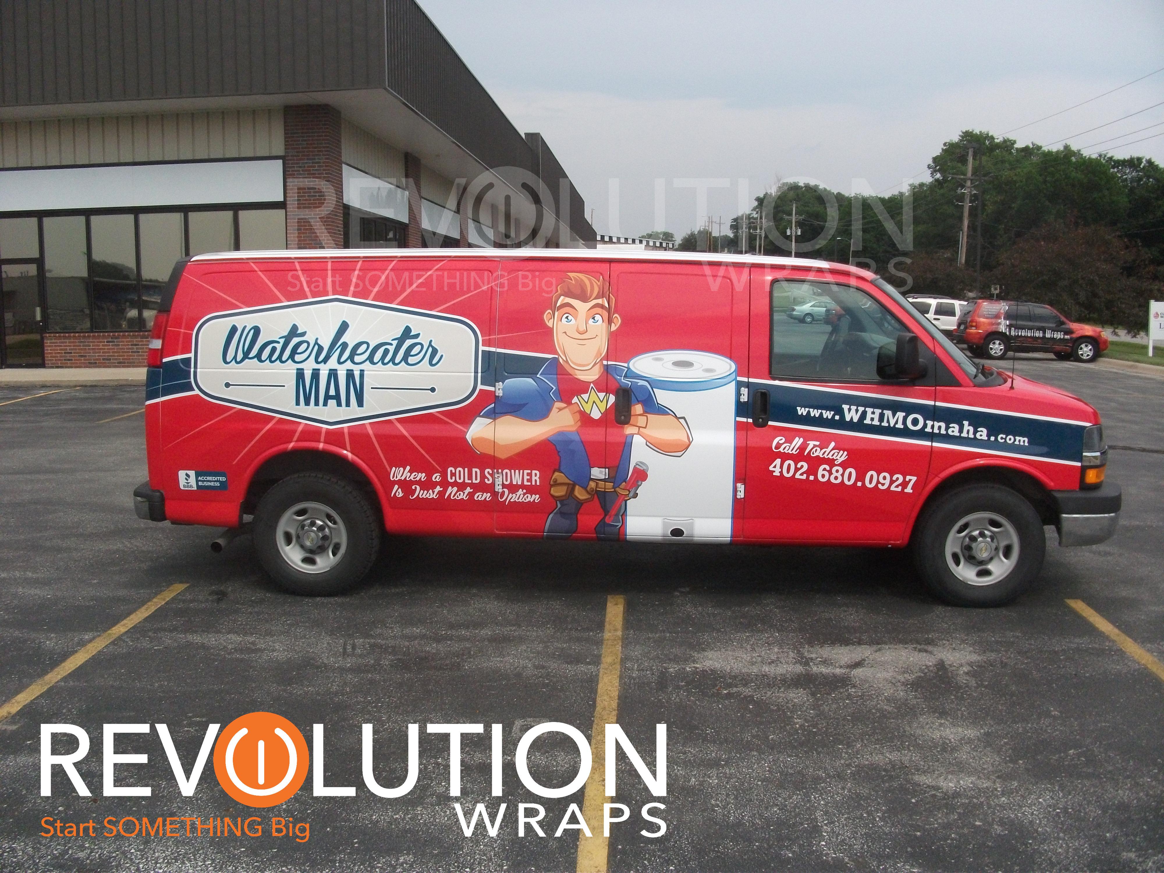 Water Heater Man Van Wrap