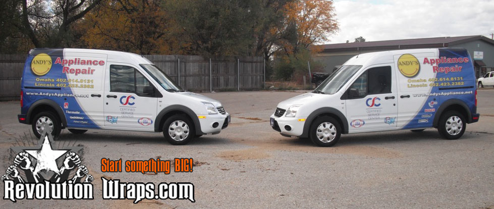 Vehicle Wraps Lincoln And Omaha Ne Andy S Appliance