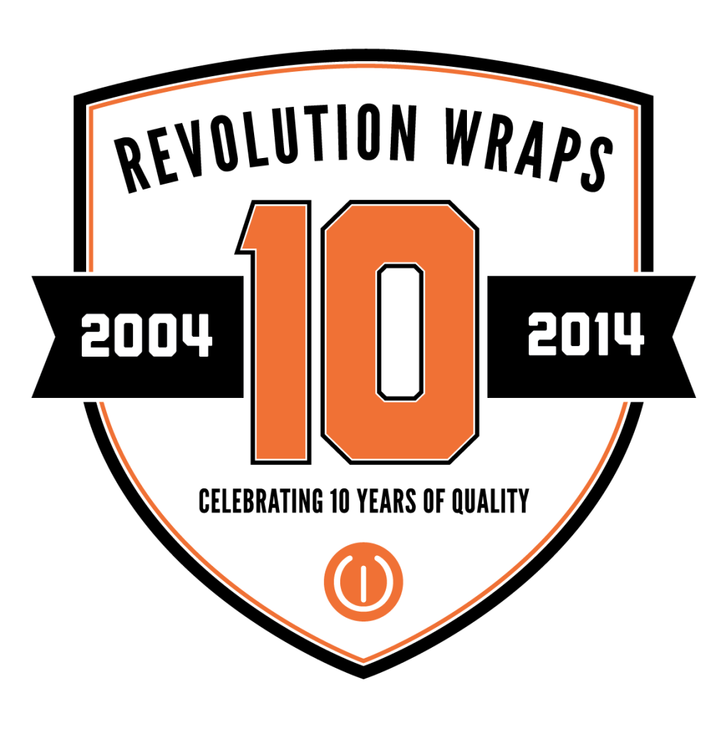 Revolution Wraps 10 years of Vehicle wraps