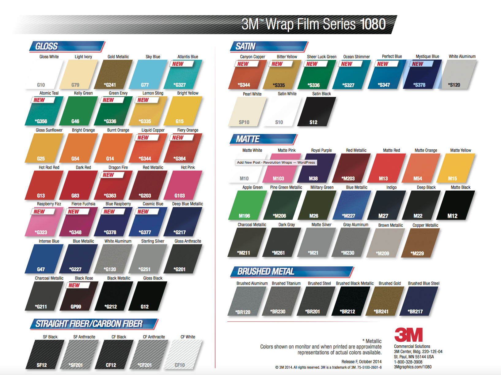 3m1080 Color Change Vinyl Wrap 18 New Colors