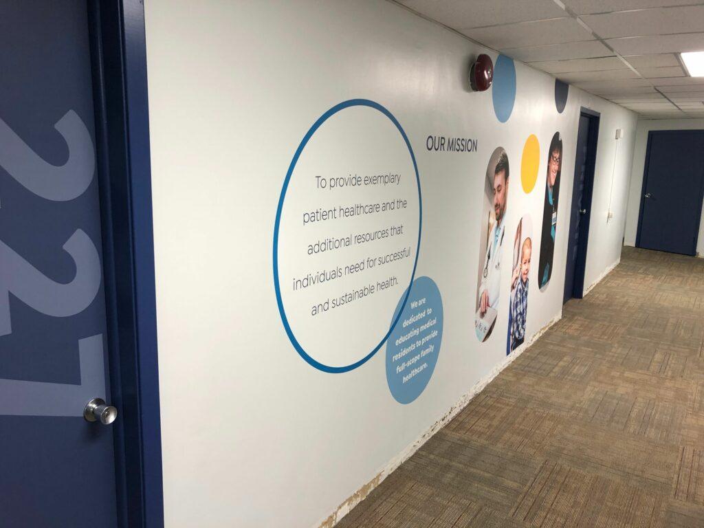 Clinic Rebrand – Contour Cut Wall Graphics