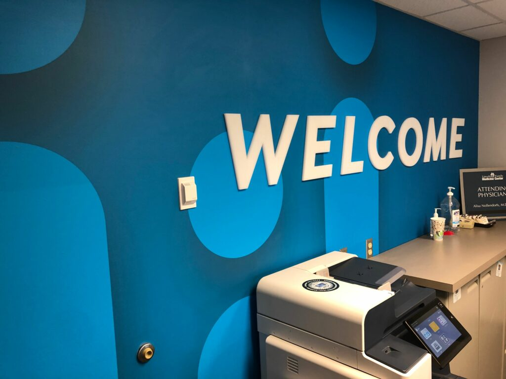 Clinic Remodel – Wall Wrap – with Dimensional